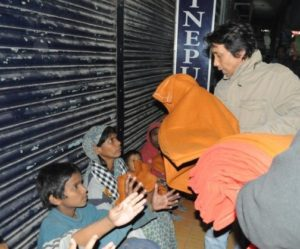 Distributing blankets and warm clothes to the underprivileged around Dhaka